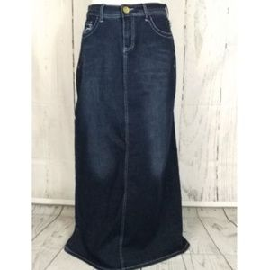 "Long 34"" modest denim jean skirt long  NWT Boutiqu"